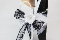 Bomboniera Molletta Gigante Legno Sposini B/W Wedding