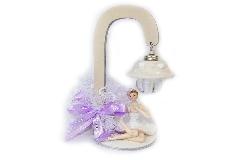 Bomboniera Ballerina Con Lampione H.17,5 Cm Sacchetto Rete Portaconfetti