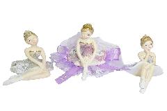 Bomboniere Ballerina Colorata Glitter Comunione Cresima Bambina 10x9 Cm