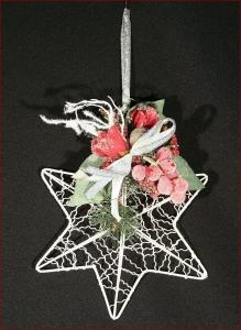 Palla Stella Glitter Brinata Albero Natale