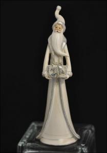 Babbo Natale In Resina Bianco 24x8 Cm