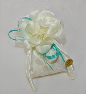 Bomboniera Tiffany Con Magnolia Panna
