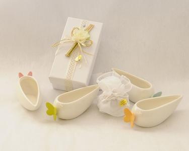 Bomboniera Lux Con Salsiera In Ceramica