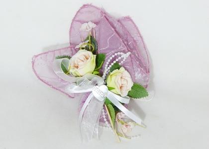 Bomboniera Tulle E Pick Rose Rosa Con Cuore