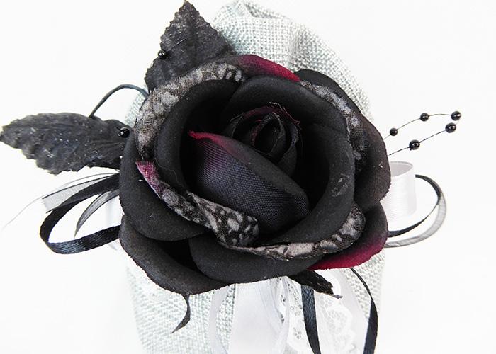 Bomboniera Sacchetto Argento Nastro Pizzo Pick Rosa Nera Wedding