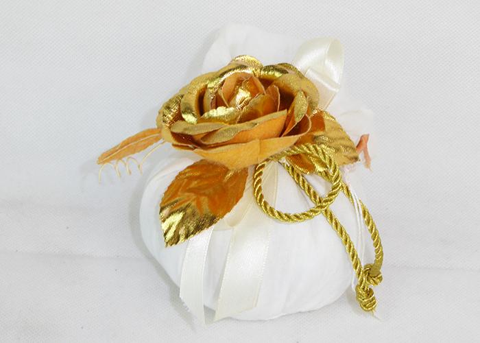 Bomboniera Sacchetto Cotone Leggero Pick Rosa Oro