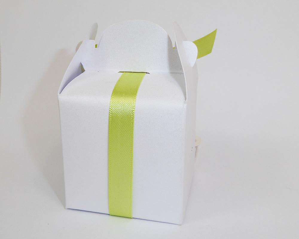 Bomboniera Scatolina Con Nastro Verde 18 Anni