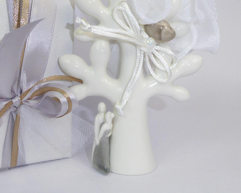 Bomboniera Scatola Con Albero Della Vita Piccolo  In Resina Sposi
