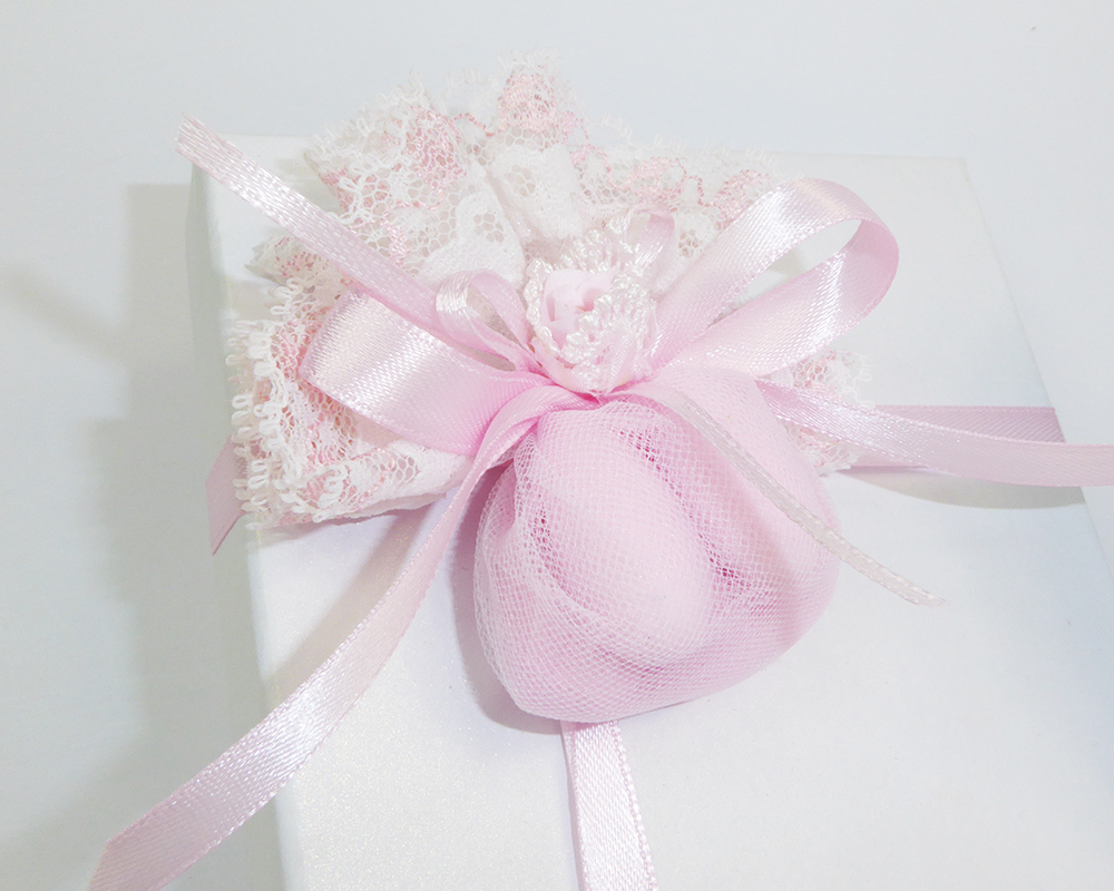 Bomboniera Albero Della Vita Ceramica Smaltato Scatola Sacchetto Rosa